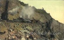 tra006474 - An Accident, Wreck of Large Steam Shovel at Bas Obispo, Train Trains Locomotive, Steam Engine,  Postcard Postcards