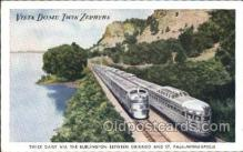 tra006476 - Vista Dome Twin Zephyrs Between Chicago and St. Paul Minneapolis, Train Trains Locomotive, Steam Engine,  Postcard Postcards