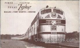 tra006478 - Texas Zephyr Train Trains Locomotive, Steam Engine,  Postcard Postcards