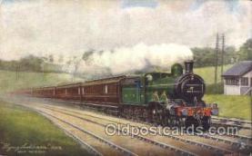 tra006489 - Raphael Tuck & Sons Flying Scotchmen Near HatfieldTrain Trains Locomotive, Steam Engine,  Postcard Postcards