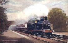 tra006492 - Raphael Tuck & Sons Highland Express Train Trains Locomotive, Steam Engine,  Postcard Postcards