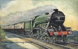 tra006500 - Raphael Tuck & Sons London and North Eastern The Harrogate - Edinburgh Pullman Train Trains Locomotive, Steam Engine,  Postcard Postcards