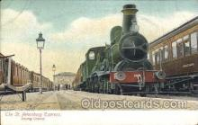 tra006503 - The St. Petersburg Express Leaving Ostend Train Trains Locomotive, Steam Engine,  Postcard Postcards
