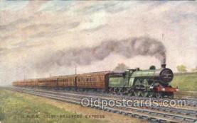 tra006504 - L.N.E.R. Leeds - Bradford Express Train Trains Locomotive, Steam Engine,  Postcard Postcards