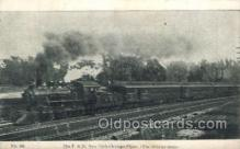 tra006508 - The P.R.R. New York - Chicago Flyer Train Trains Locomotive, Steam Engine,  Postcard Postcards