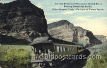 tra006509 - Echo Canyon, Utah, Usa Train Trains Locomotive, Steam Engine,  Postcard Postcards