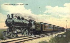 tra006516 - The Detroiter, Michigan Central Flyer Train Trains Locomotive, Steam Engine,  Postcard Postcards