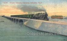 tra006542 - Galveston, TX USA Train, Trains, Locomotive, Old Vintage Antique Postcard Post Card