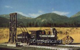 tra006559 - Robertson Cinder Conveyor, USA Train, Trains, Locomotive, Old Vintage Antique Postcard Post Card