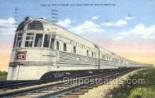 tra006571 - Streamlined Burlington Train, Trains, Locomotive, Old Vintage Antique Postcard Post Card