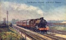 tra006572 - Brighton Limited RR Train, Trains, Locomotive, Old Vintage Antique Postcard Post Card