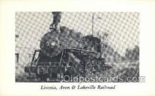 tra006573 - Livonia Avon and Lakeville RR, Erie, PA USA Train, Trains, Locomotive, Old Vintage Antique Postcard Post Card