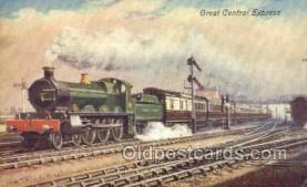 tra006575 - Central Express Train, Trains, Locomotive, Old Vintage Antique Postcard Post Card