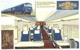 tra006580 - Pullman Car, London UK Train, Trains, Locomotive, Old Vintage Antique Postcard Post Card