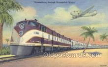 tra006590 - Streamliner, FL USA Train, Trains, Locomotive, Old Vintage Antique Postcard Post Card