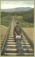 tra006593 - Rail Road Track Inspector on Hand Car, White Mts, NH USA Train, Trains, Locomotive, Old Vintage Antique Postcard Post Card