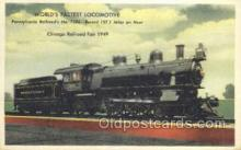 tra006622 - Pennsylvania Railroad No 7002, Chicago, IL USA Train, Trains, Locomotive, Old Vintage Antique Postcard Post Card