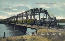 tra006624 - Overland Limited, USA Train, Trains, Locomotive, Old Vintage Antique Postcard Post Card