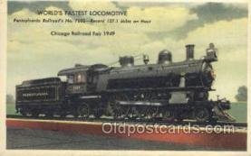 tra006628 - Pennsylvania Railroad No 7002, Chicago, IL USA Train, Trains, Locomotive, Old Vintage Antique Postcard Post Card
