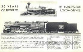 tra006630 - Burlington Locomotives, USA Train, Trains, Locomotive, Old Vintage Antique Postcard Post Card