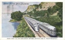 tra006633 - Vista Dome Twin Zephyrs, Chicago, IL USA Train, Trains, Locomotive, Old Vintage Antique Postcard Post Card