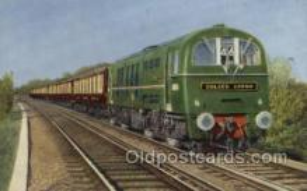 tra006639 - Golden Arrow, London, Paris Train, Trains, Locomotive, Old Vintage Antique Postcard Post Card