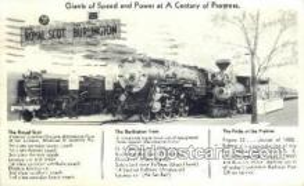 tra006642 - Royal Scot Burlington Pride Of The Prairies, USA Train, Trains, Locomotive, Old Vintage Antique Postcard Post Card