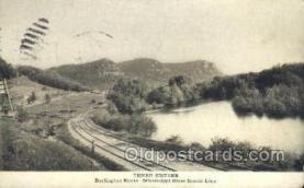 tra006643 - Three Sisters Burlington Route, Mississippi River, USA Train, Trains, Locomotive, Old Vintage Antique Postcard Post Card