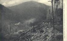 tra006653 - Great Northern RR, Horseshoe Tunnel, WA USA Train, Trains, Locomotive, Old Vintage Antique Postcard Post Card
