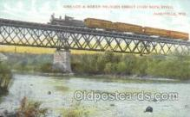 tra006655 - Chicago and northwestern, Janesville, WI USA Train, Trains, Locomotive, Old Vintage Antique Postcard Post Card