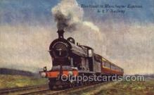 tra006658 - Blackpool Express, Manchester, UK Train, Trains, Locomotive, Old Vintage Antique Postcard Post Card