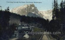 tra006660 - WA USA Train, Trains, Locomotive, Old Vintage Antique Postcard Post Card