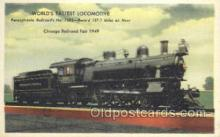 tra006663 - Pennsylvania Railroad No 7002, Chicago, IL USA Train, Trains, Locomotive, Old Vintage Antique Postcard Post Card