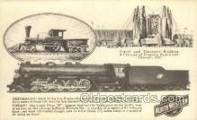 tra006669 - North Western Line, Chicago, IL USA Train, Trains, Locomotive, Old Vintage Antique Postcard Post Card