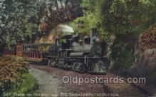 tra006670 - 567 Train, Mt Tamalpais, CA USA Train, Trains, Locomotive, Old Vintage Antique Postcard Post Card