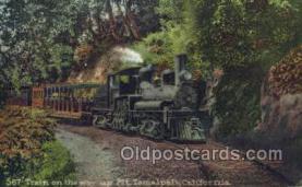 tra006670 - 567 Train, Mt Tamalpais, CA USA Train, Trains, Locomotive, Old Vintage Antique Postcard Post Card