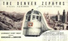 tra006683 - Denver Zephyr, Denver, CO USA Train, Trains, Locomotive, Old Vintage Antique Postcard Post Card