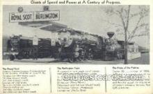 tra006686 - The royal Scot and The Burlington, USA Train, Trains, Locomotive, Old Vintage Antique Postcard Post Card