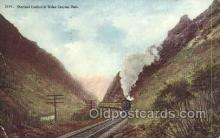 tra006687 - Overland Limited, Weber Canyon, UT USA Train, Trains, Locomotive, Old Vintage Antique Postcard Post Card