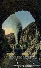 tra006688 - Railroad Tunnel in the northeast, USA Train, Trains, Locomotive, Old Vintage Antique Postcard Post Card