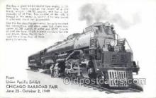 tra006690 - Giant 4884 Mallet  UPRR, Chicago, IL USA Train, Trains, Locomotive, Old Vintage Antique Postcard Post Card