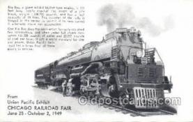 tra006690 - Giant 4884 Mallet  UPRR, Chicago, IL USA Train, Trains, Locomotive, Old Vintage Antique Postcard Post Card