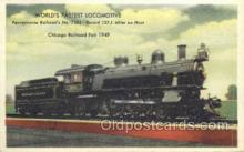 tra006692 - Pennsylvania Railroad No 7002, Chicago, IL USA Train, Trains, Locomotive, Old Vintage Antique Postcard Post Card