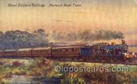 tra006696 - Great Eastern Railway, Harwich Boat Trail, USA Train, Trains, Locomotive, Old Vintage Antique Postcard Post Card