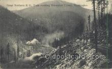 tra006698 - Great Northern Railroad, Horseshoe Tunnel, WA USA Train, Trains, Locomotive, Old Vintage Antique Postcard Post Card