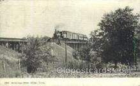 tra006700 - Greetings From Albiam , IA ,Iowa, USA Train Railroad Station Depot Postcards Post Cards