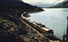tra006709 - The White Pass  and Yukon RR Skirts, Lake Bennett, USA Train Railroad Station Depot Postcards Post Cards