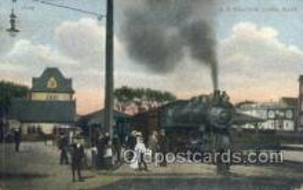 tra006712 - RR Station, Lynn, Ma , Massachusetts, USA Train Railroad Station Depot Postcards Post Cards