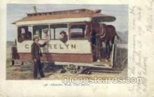 tra006752 - Cherrelyn, Horse car, Denver, CO, Colorado, USA Train Railroad Station Depot Postcards Post Cards