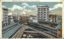 tra006767 - Chatham Square, NYC, NY, New York, USA Train Railroad Station Depot Postcards Post Cards
